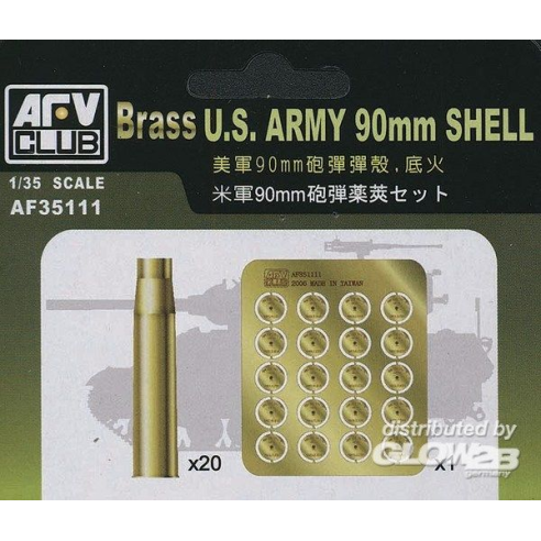 AFV-ClubUS 90 mm SHELL CASE (METAL)