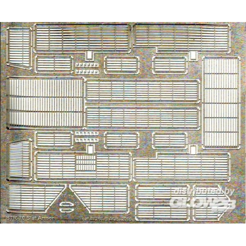 ACE PE7263 : Photo-etched set slat armor for BTR-70 for ACE kits 1:72