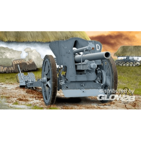 ACE ACE72216 : German le FH18 10,5 cm Field Howitzer  1:72