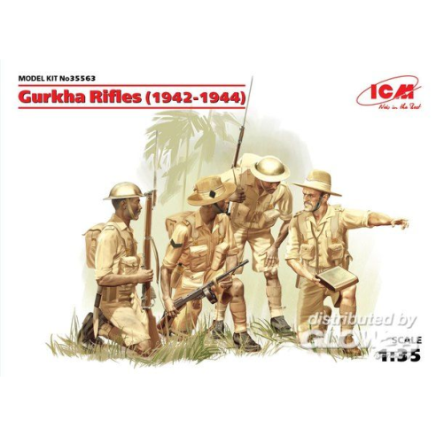 ICM 35563 : Gurkha Rifles (1944) (4 figures)  1:35
