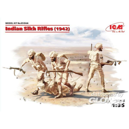 ICM 35564 : Indian Sikh Rifles (1942) (4 figures)  1:35