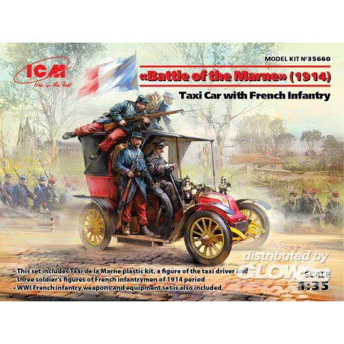 ICM 35660 : Battle of the Marne(1914),Taxi car wit French Infantry 1:35