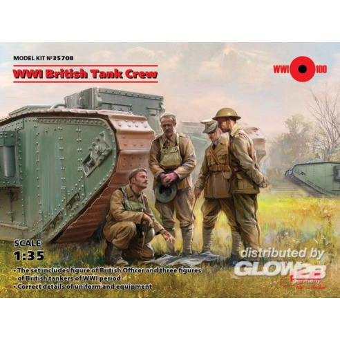 ICM 35708 : WWI British Tank Crew (4 figures)  1:35