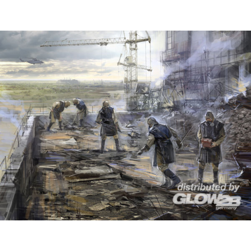 ICM 35903 : Chernobyl3. Rubble cleaners (5 figures)  1:35