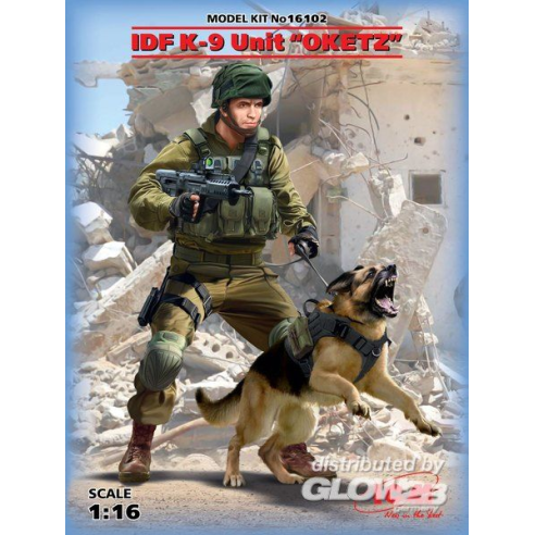 "ICM 16102 : IDF K-9 Unitz ""OKETZ"" with dog  1:16"