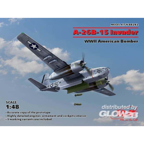 ICM 48282 : A-26B-15 Invader,WWII American Bomber  1:48