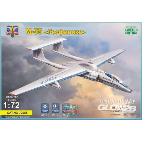 Modelsvit MSVIT72055 : M-55 Geophysica research aircraft,Limited Edition 1:72