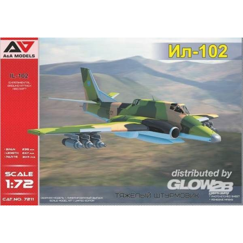 Modelsvit AAM7211 : IL 102 Experimental ground-attack aircra (Sukhoi Su-25' rival) 1:72