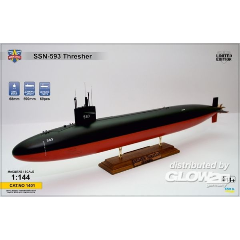 Modelsvit MSVIT1401 : USS Thresher (SSN-593) submarine  1:144