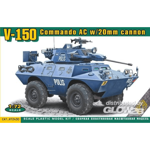 ACE ACE72430 : V-150 Commando AC w/20mm cannon  1:72
