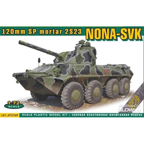 ACE72169 : NONA-SVK 120mmm SP mortar 2S23 1/72