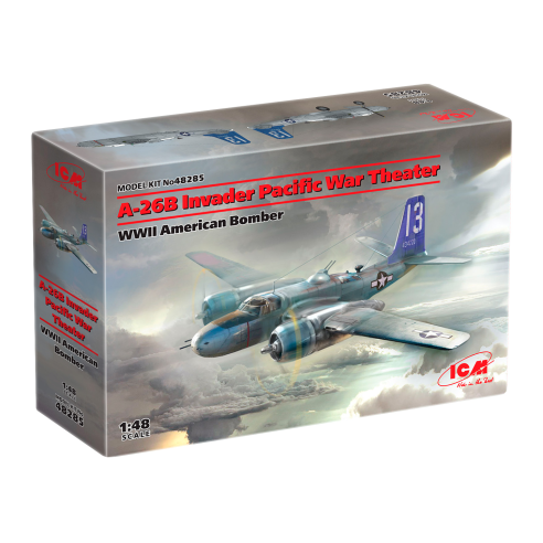 ICM 48285 : A-26 Invader Pacific War Theater, WWII American Bomber  1:48