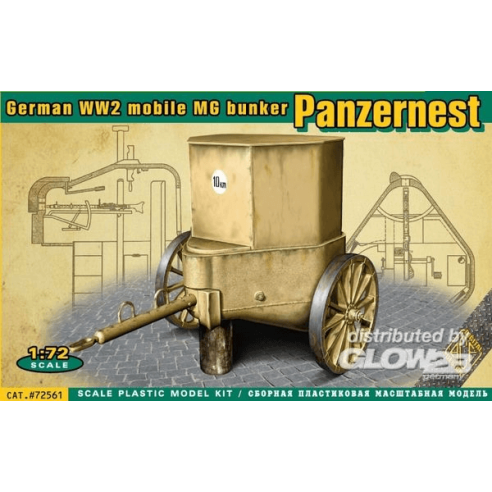 ACE ACE72561 : WWII German mobile MG bunker Panzernest  1:72